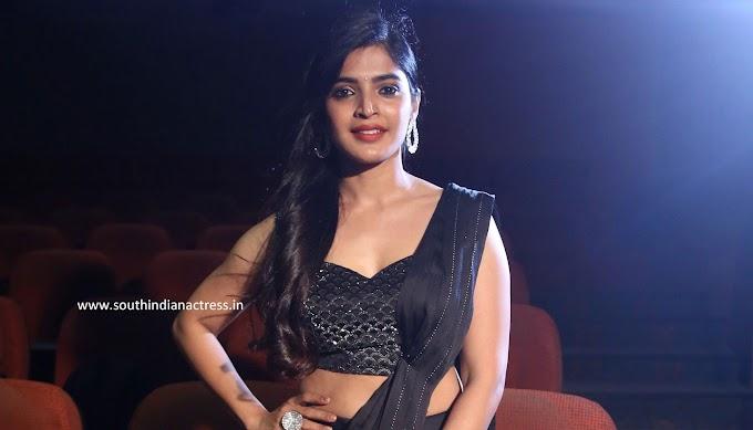 Sanchita Shetty Black Saree Photos At My South Diva Calendar