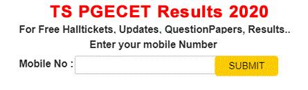 Telangana PGECET Results 2020