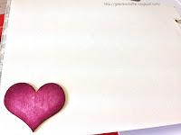 tekturkowe różowe serce z birmaty tusz fuksja latarnia morska