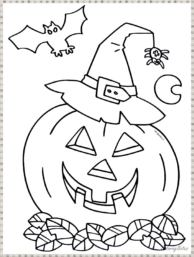 20 Halloween Coloring Pages for Kids Free Printable and ...