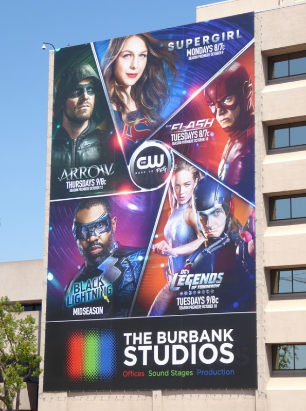 CW DC Comics 2017 shows billboard
