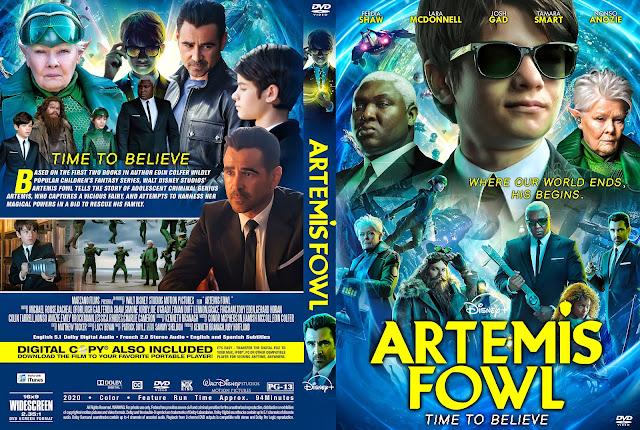 Artemis Fowl (2020) DVD Cover