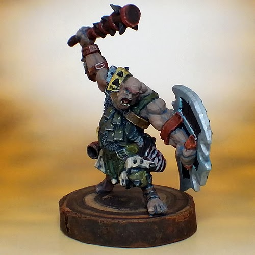 Show Off :: Reaper's Kagunk, Ogre Chieftain on WoldStand Base
