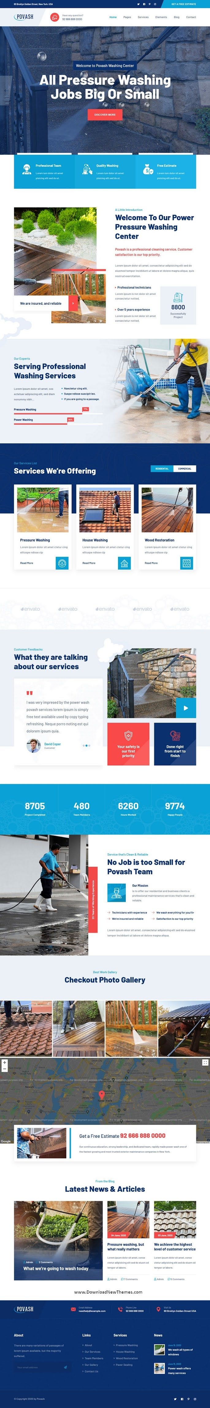 Power Wash Cleaning Services Template
