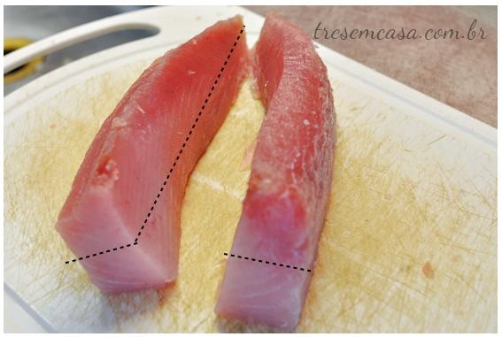 sashimi de atum fotos passo a passo