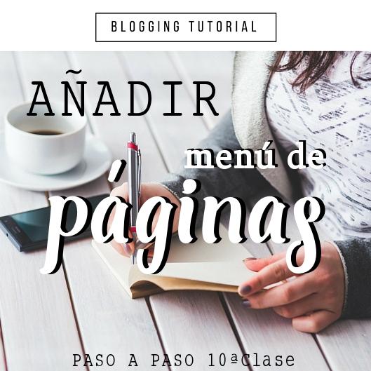 Crea paginas y un menu de paginas