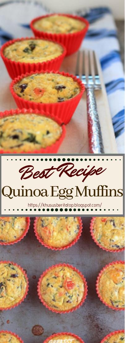 Quinoa Egg Muffins #healthyfood #dietketo #breakfast #food