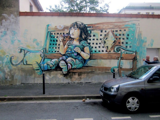 Рисунки на стенах. Alice Pasquini 14