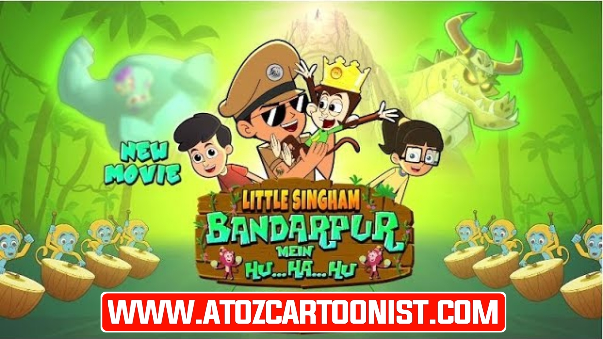 LITTLE SINGHAM : BANDARPUR ME HU HA HU FULL MOVIE IN HINDI DOWNLOAD (1080P FULL HD)