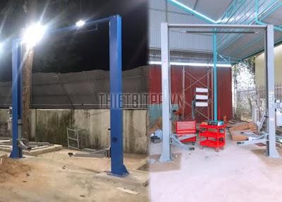 Hướng dẫn lắp đặt và sử dụng cầu nâng 2 trụ trong các tiệm sửa chữa xe ô tô hiện nay