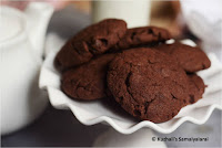 EGGLESS WHOLE WHEAT CHOCOLATE COOKIES/ EASY CHOCOLATE COOKIE RECIPE/ HOW TO MAKE EGGLESS CHOCOLATE COOKIES