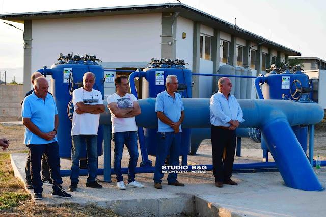 Αργολίδα: Εγκαινιάσθηκε το νέο αντλιοστάσιο του ΤΟΕΒ Ήρας - Κουρτακίου (βίντεο)