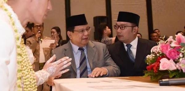 Ridwan Kamil Minta Maaf Ke Prabowo Subianto