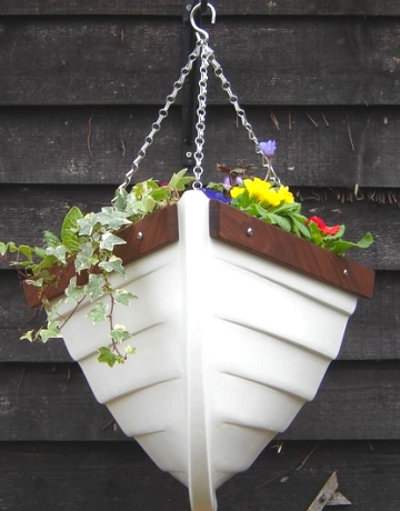 hanging boat planter