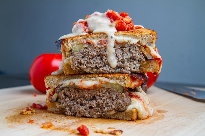 Moussaka Patty Melts