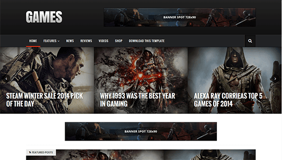 Games-Blogger-Template