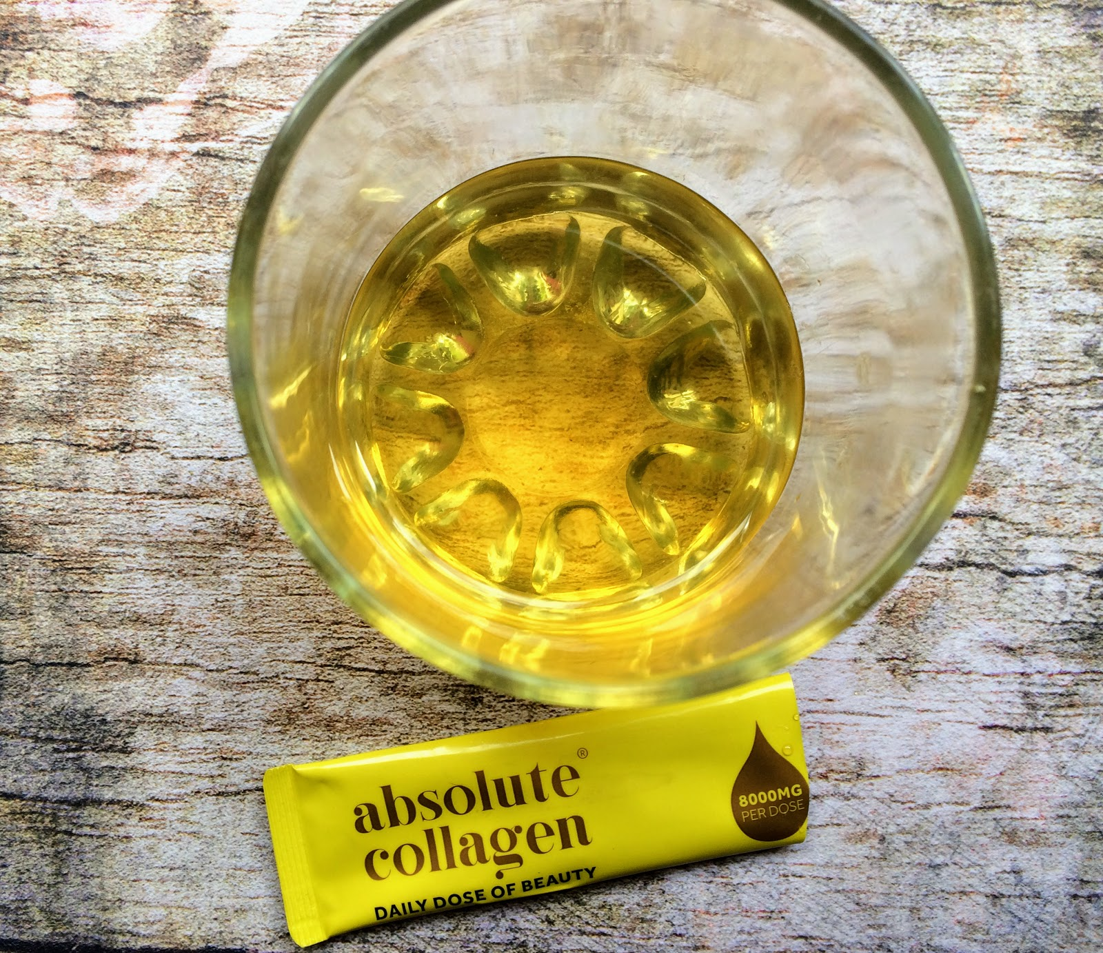 absolute collagen liquid supplement with warm water