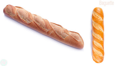 Baguette bread, baguette food