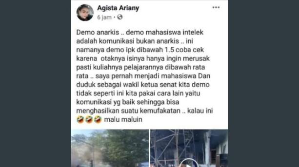 Kicauan Istri Gubernur Sultra yang Sebut Mahasiswa Demo IPK 1.5 Viral