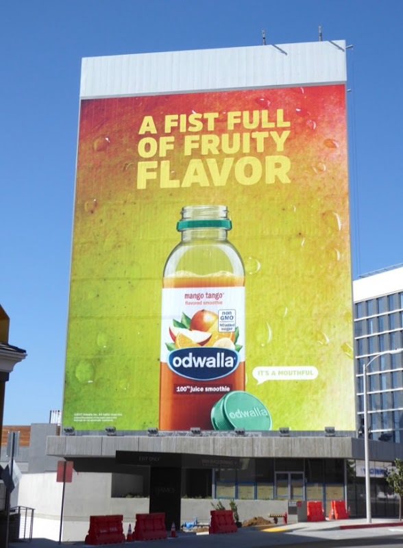 A fist full of fruity flavor Odwalla billboard