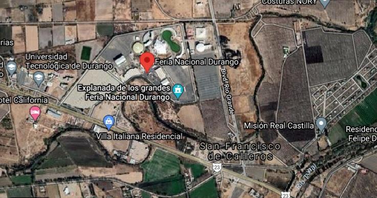 Mapa Feria Nacional Durango