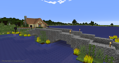 minecraft hobbiton build sandyman's mill bridge