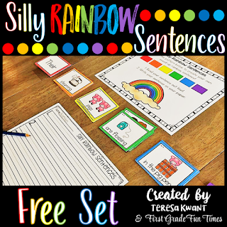 These silly sentences are perfect for sentence writing and reading fluency. Your students are sure to love creating funny sentences as they master the skills to write. You can use these to teach parts of speech, reading fluency, writing fluency, or many other literacy concepts.