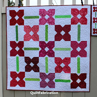 FLOWER QUILT-BABY QUILT-PINK QUILT-SCRAPPY AND HAPPY QUILTS