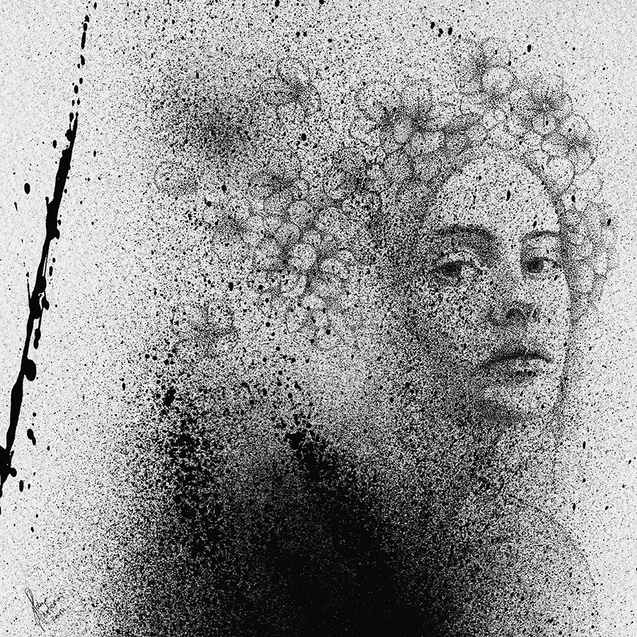 03-Black-Cloud-Portraits-Stippling-Drawings-and-Spray-Paint-www-designstack-co