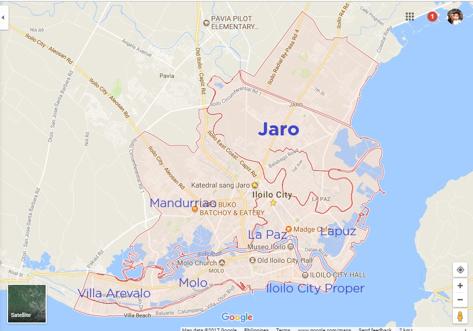 Wheres Jaro Iloilo Exactly - Iloilo city map