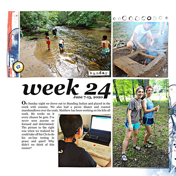 Week 24 Stories of Life Digital Scrapbook Page