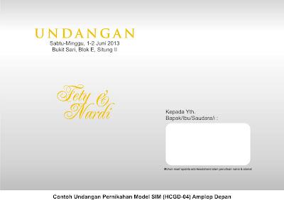 Undangan Pernikahan Model SIM HCGD