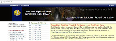 Pengumuman Hasil PLPG di unesa surabaya