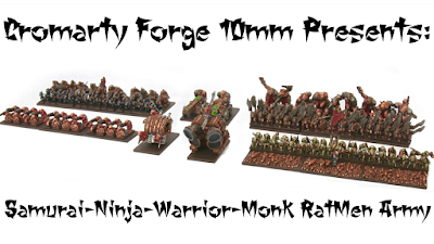 Samurai-Ninja-Warrior-Monk-Ratmen Army Kickstarter from Cromarty Forge