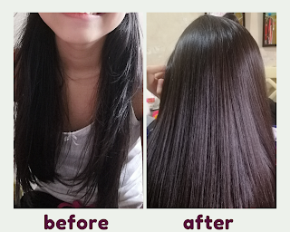Before and After Hair Treatment
