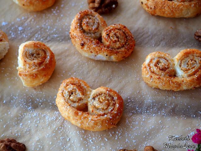 Ciasteczka francuskie z orzechami