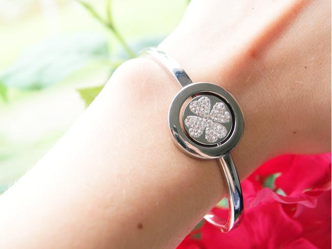 Just D Daydream armband met klaver symbool. Een mooie armband van echt zilver van Lucardi