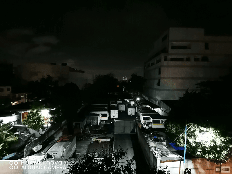 Huawei nova 7i low light ultra-wide camera