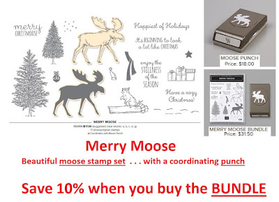 Stampin'UP!'s Moose Punch and coordinating Merry Moose Stamp Set