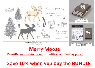 Stampin'UP!'s Merry Moose Stamp Set and Moose Punch Bundle