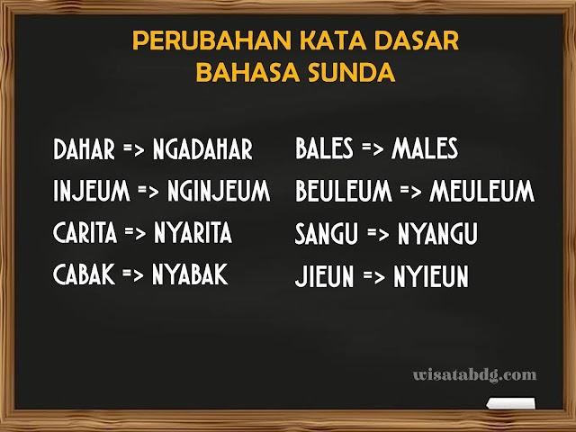Mengenal Perubahan Kata-Kata Dasar Bahasa Sunda dan Contohnya dalam Kalimat