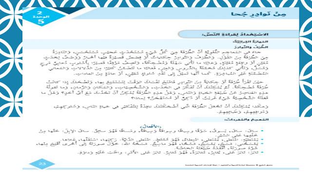 حل درس من نوادر جحا لغة عربية الصف السادس فصل ثالث
