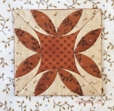 Dear Jane Quilt - Block F9 Autumn Aster