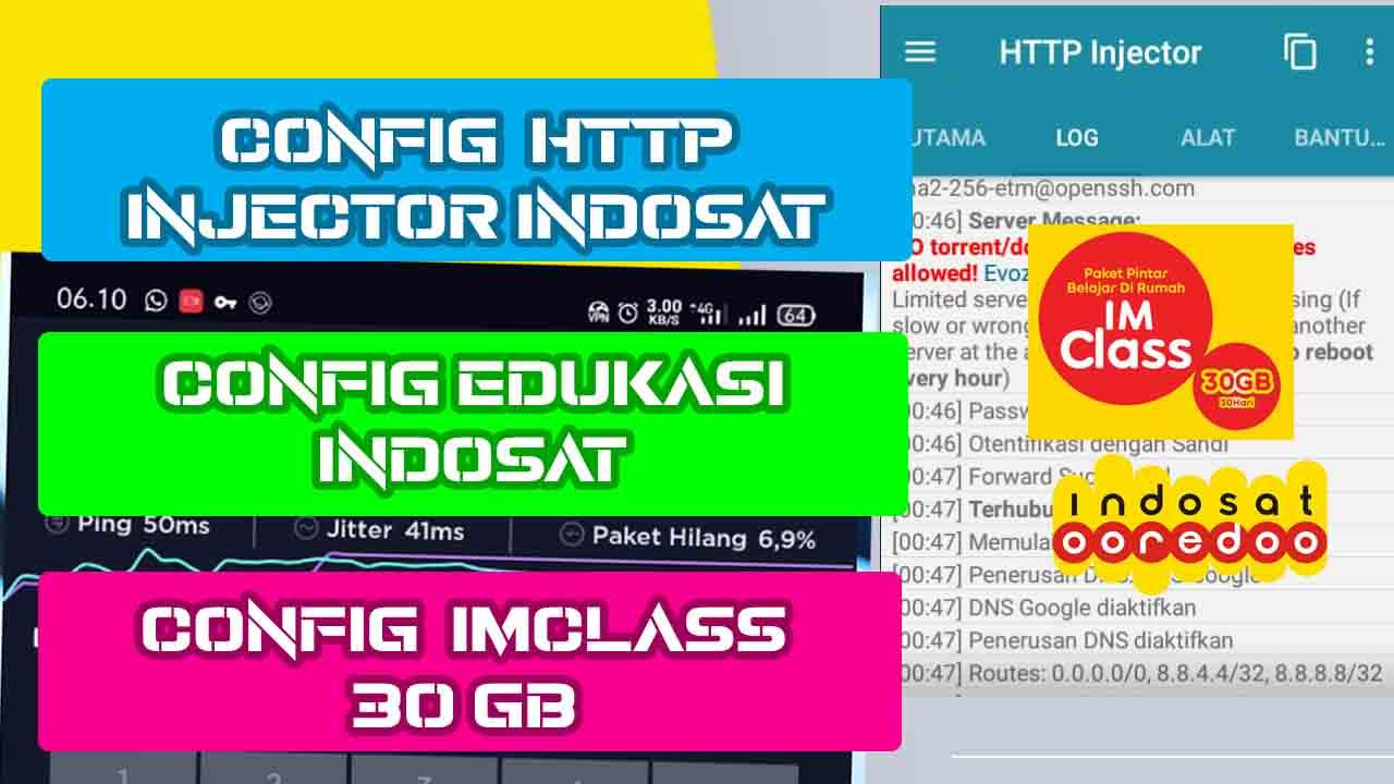 Config IMClass Terbaru Indosat - config kuota edukasi - config http injector indosat