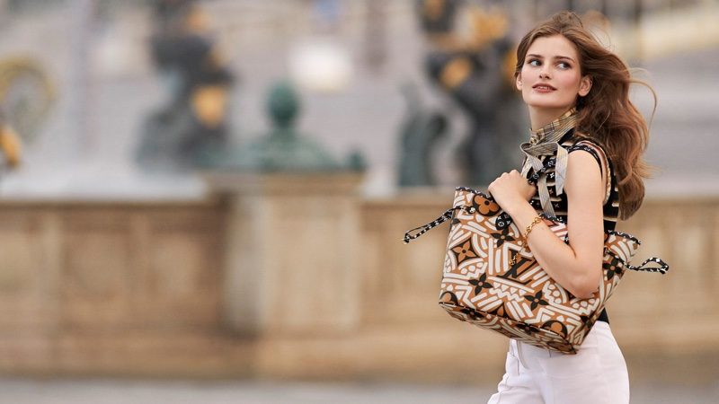 Signe Veiteberg Hits the Streets in Louis Vuitton LV Crafty Campaign