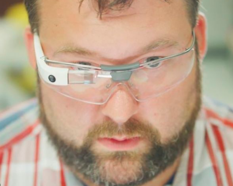 Ilustrasi Google Glass