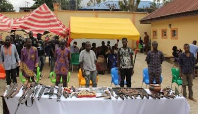Seven persons arrested for multiple bank robberies in Ondo, Ekiti, others