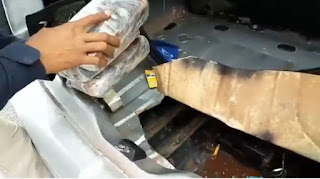 PRF apreende pasta base de cocaína escondida em veículo