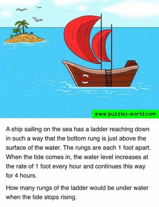 Ship with ladder and tide puzzle