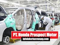 Lowongan Operator PT. Honda Prospect Motor Melalui Disnaker Karawang